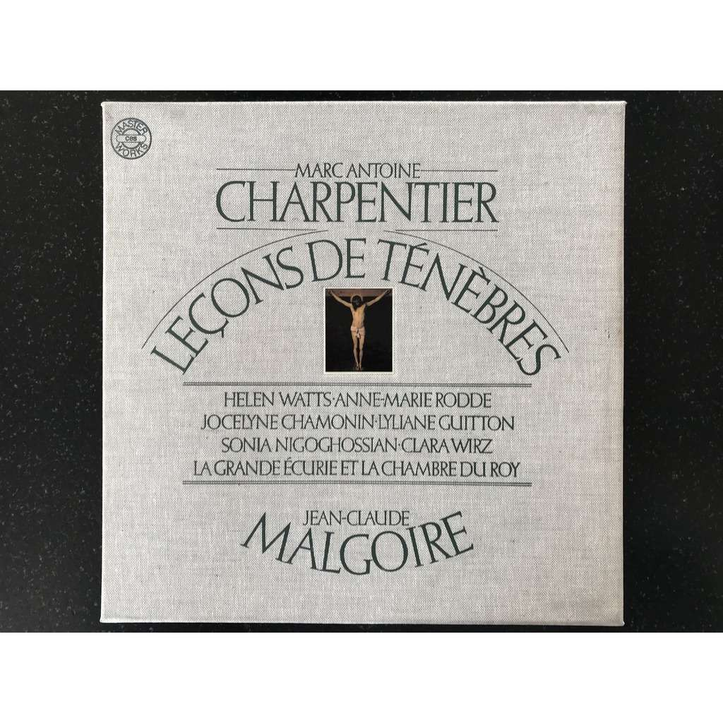 MARC ANTOINE CHARPENTIER / JEAN CLAUDE MALGOIRE LECONS DE TENEBRES