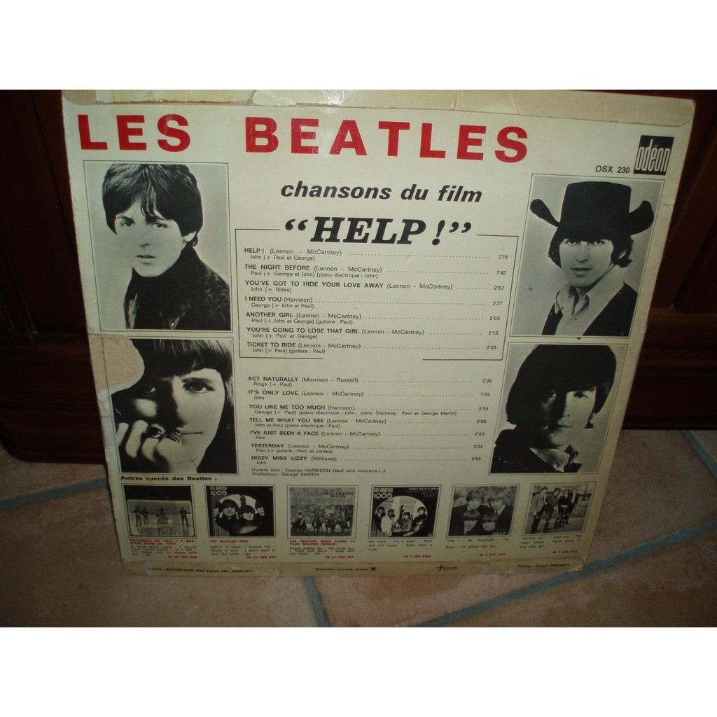 BEATLES (the) CHANSON DU FILM HELP ! L'ORIGINAL OSX 230.