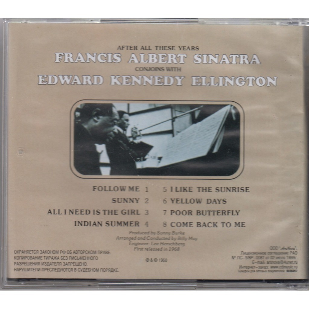 FRANK SINATRA & DUKE ELLINGTON After All These Years CD NEW
