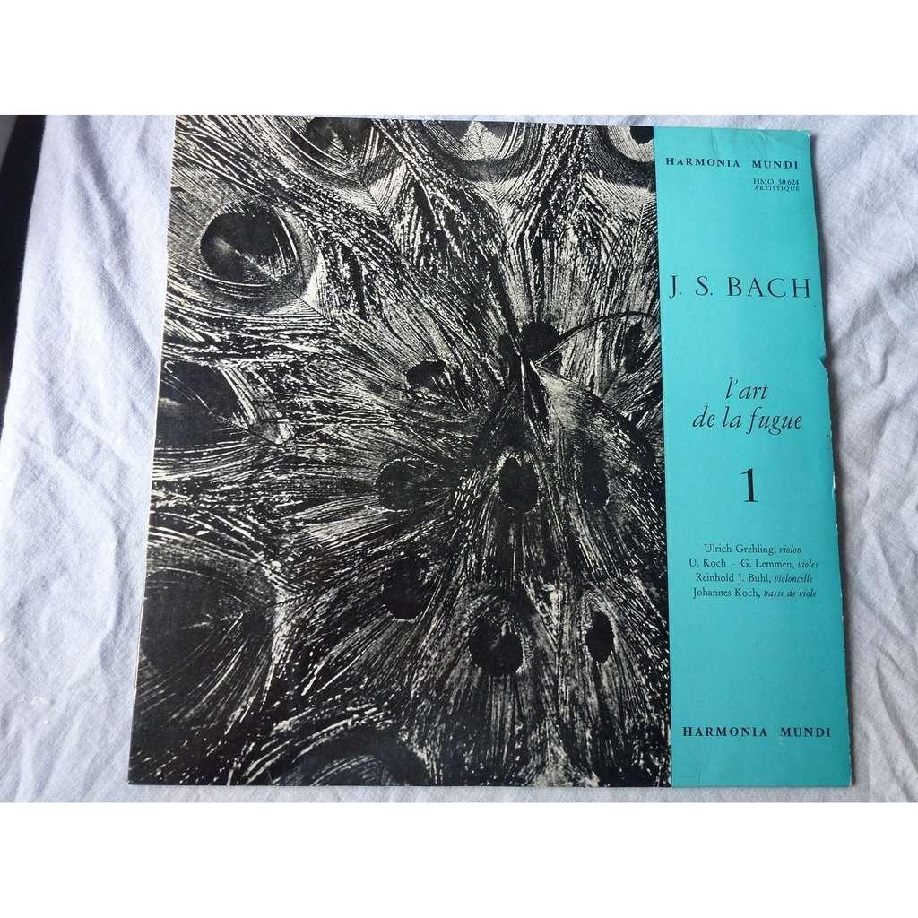 ULRICH GREHLING - COLLEGIUM AUREUM J.S. BACH : l'art de la fugue vol.1 - ( near mint condition )
