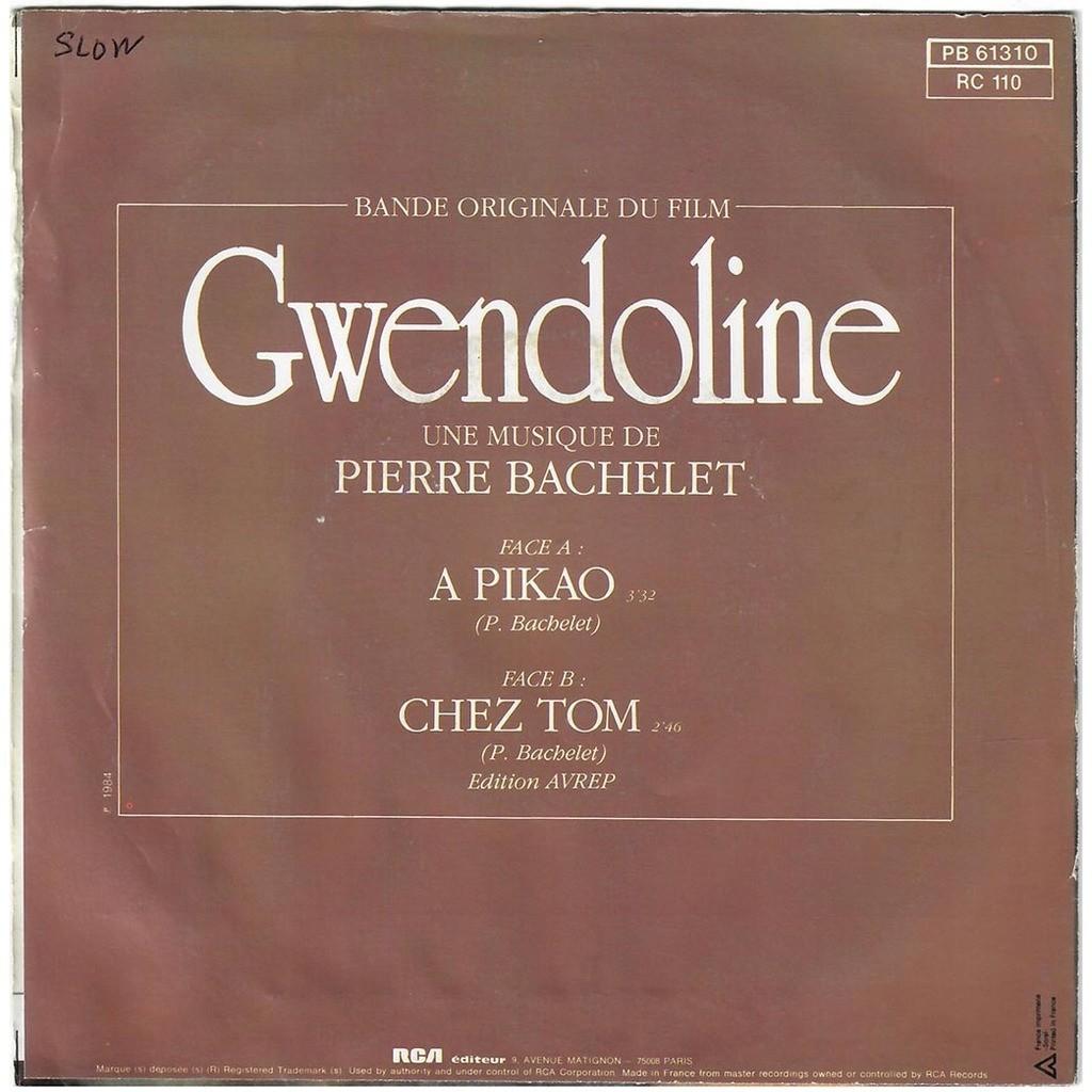 PIERRE BACHELET (Gwendoline) À Pikao / Chez Tom