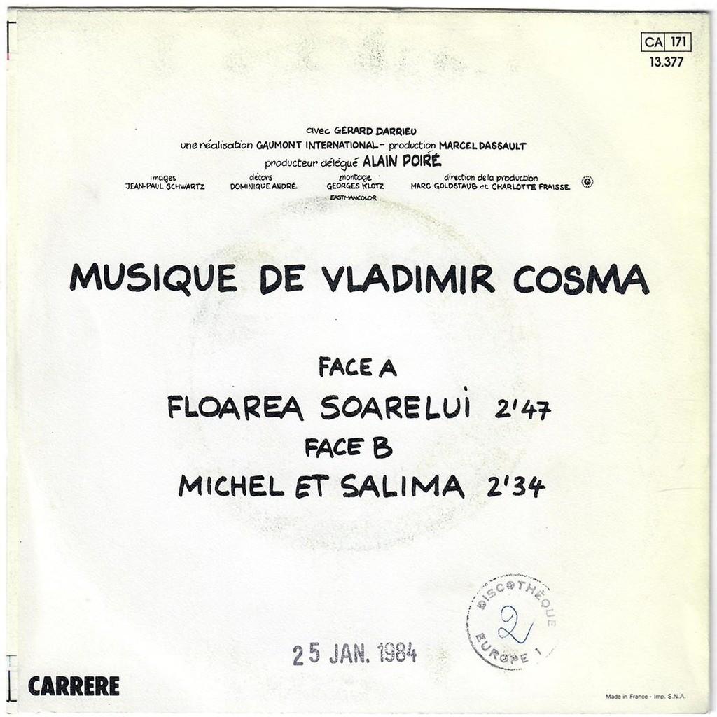 VLADIMIR COSMA P'TIT CON - Floarea Soarelui / Michel et Salima