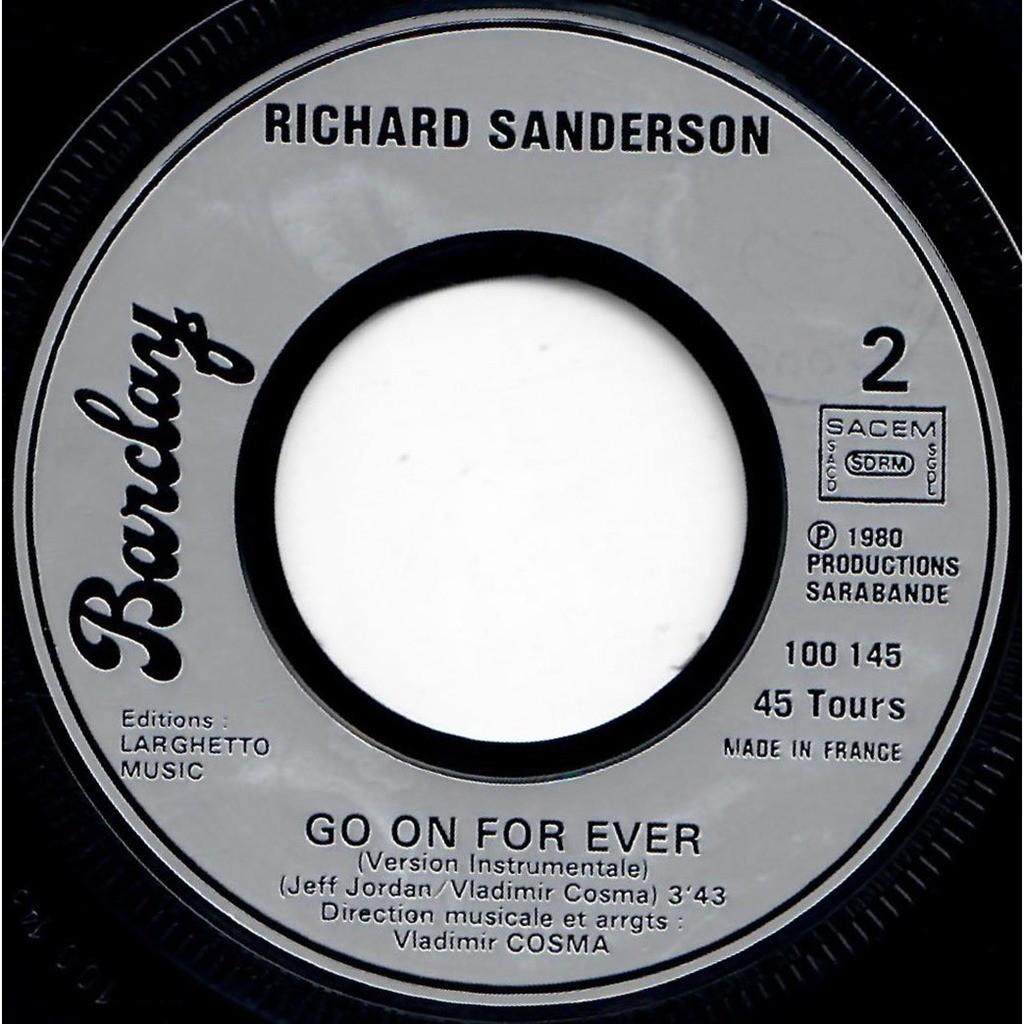 VLADIMIR COSMA RICHARD SANDERSON LA BOUM - Go on for ever / Go on for ever (instrumental)