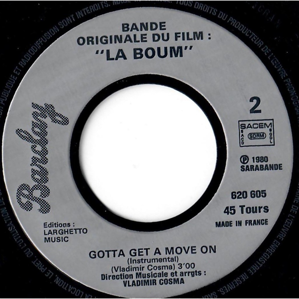 VLADIMIR COSMA RICHARD SANDERSON LA BOUM - Reality / Gotta get a move on (instrumental)