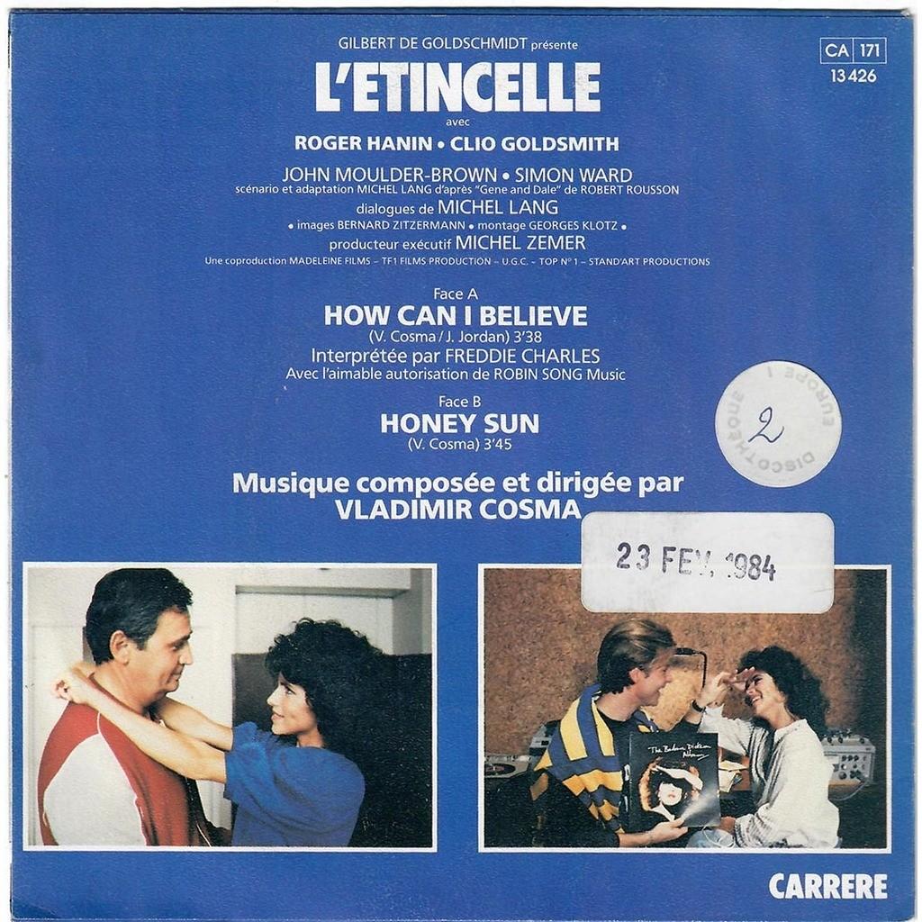 VLADIMIR COSMA FREDDIE CHARLES L'ÉTINCELLE - How Can I Believe / Honey Sun