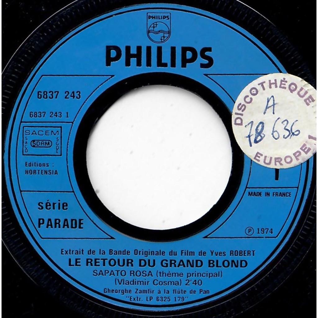 VLADIMIR COSMA GHEORGHE ZAMFIR Sapato rosa (thème principal) / Le retour du grand blond (Sirba)