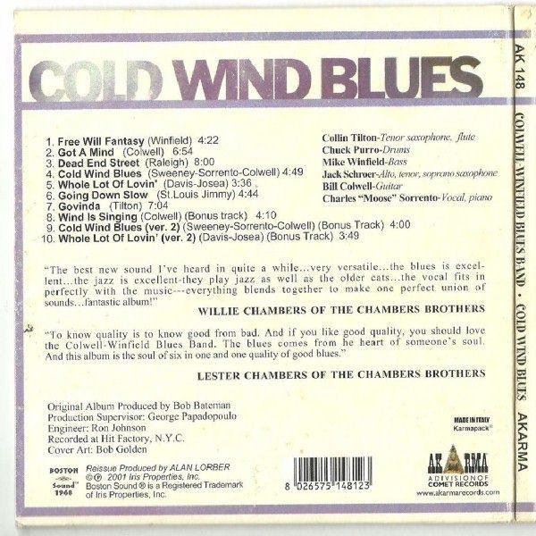 Colwell-Winfield Blues Band Cold Wind Blues