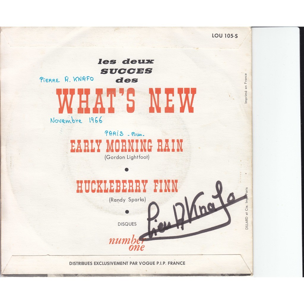 the what's new early morning rain - huckleberry finn