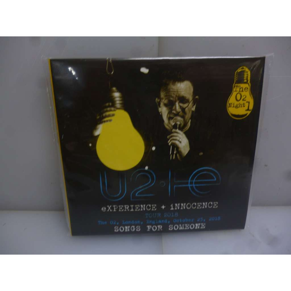 U2 Experience+Innocence: The O2, London, Night 1. Songs For Someone. UK 2018. EU 2018 2CD Digipack.