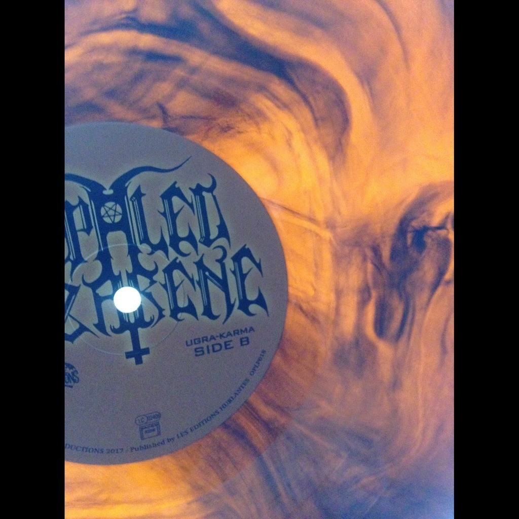 IMPALED NAZARENE Ugra Karma. Orange Galaxy Vinyl