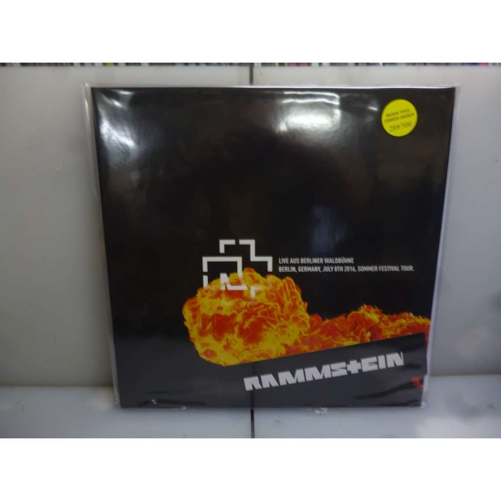 Rammstein Live Aus Berliner Waldbühne, Berlin, Germany 2016. EU 2019 Ltd to 300 Gatefold 2LP Blood Vinyl.