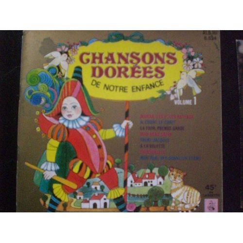 LES PETITS CHANTEURS DE VINCENNES chansons dorées de notre enfance vol 1 ( livre disque 45t longue durée - 8 titres )