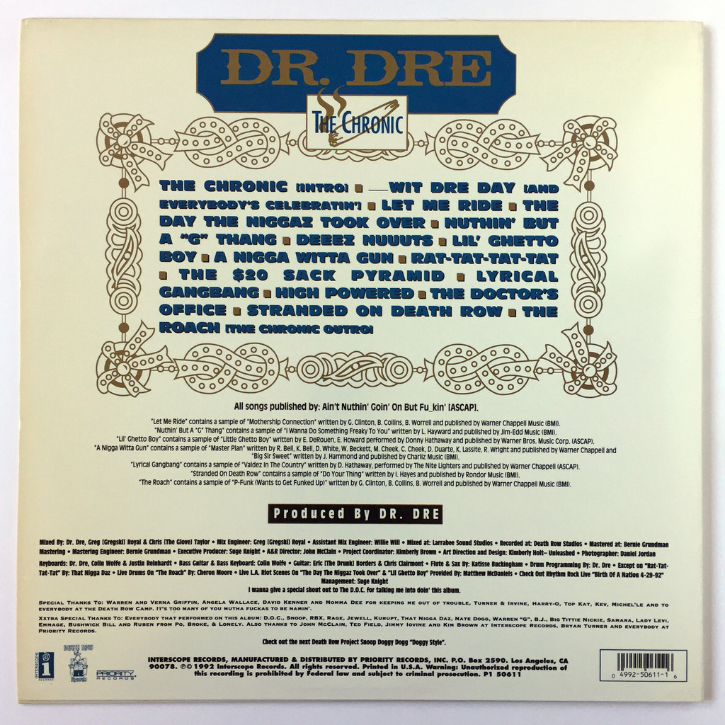 The chronic by Dr  Dre, LP with oldiers