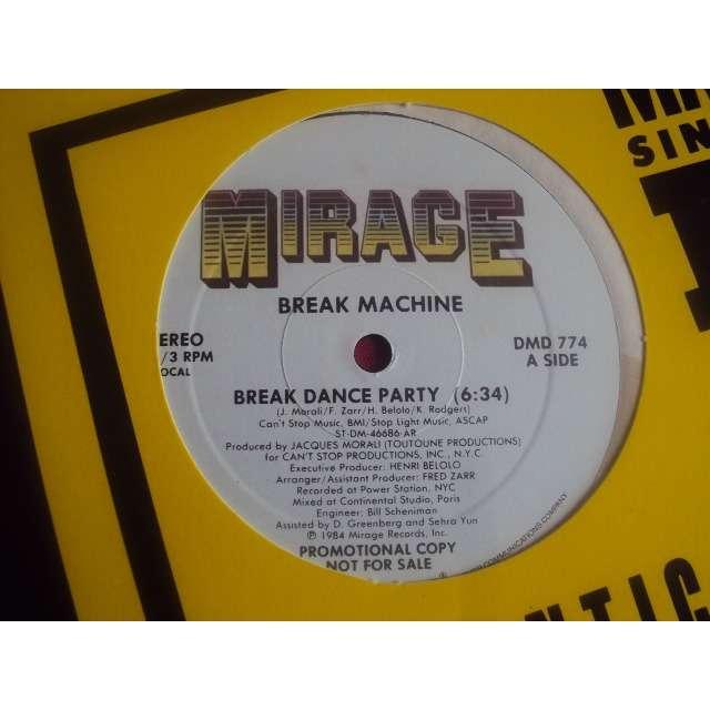 break machine BREAK DANCE PARTY (Vocal 6'34) 1984 USA PROMO COPY