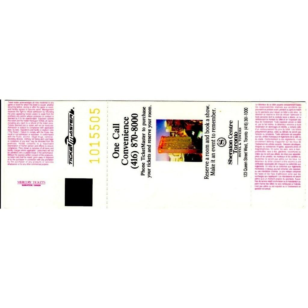 NIRVANA / Meat Puppets Maple Leaf Gardens Toronto Canada 04.11.1993 (Canada 1993 original Concert Ticket!!)