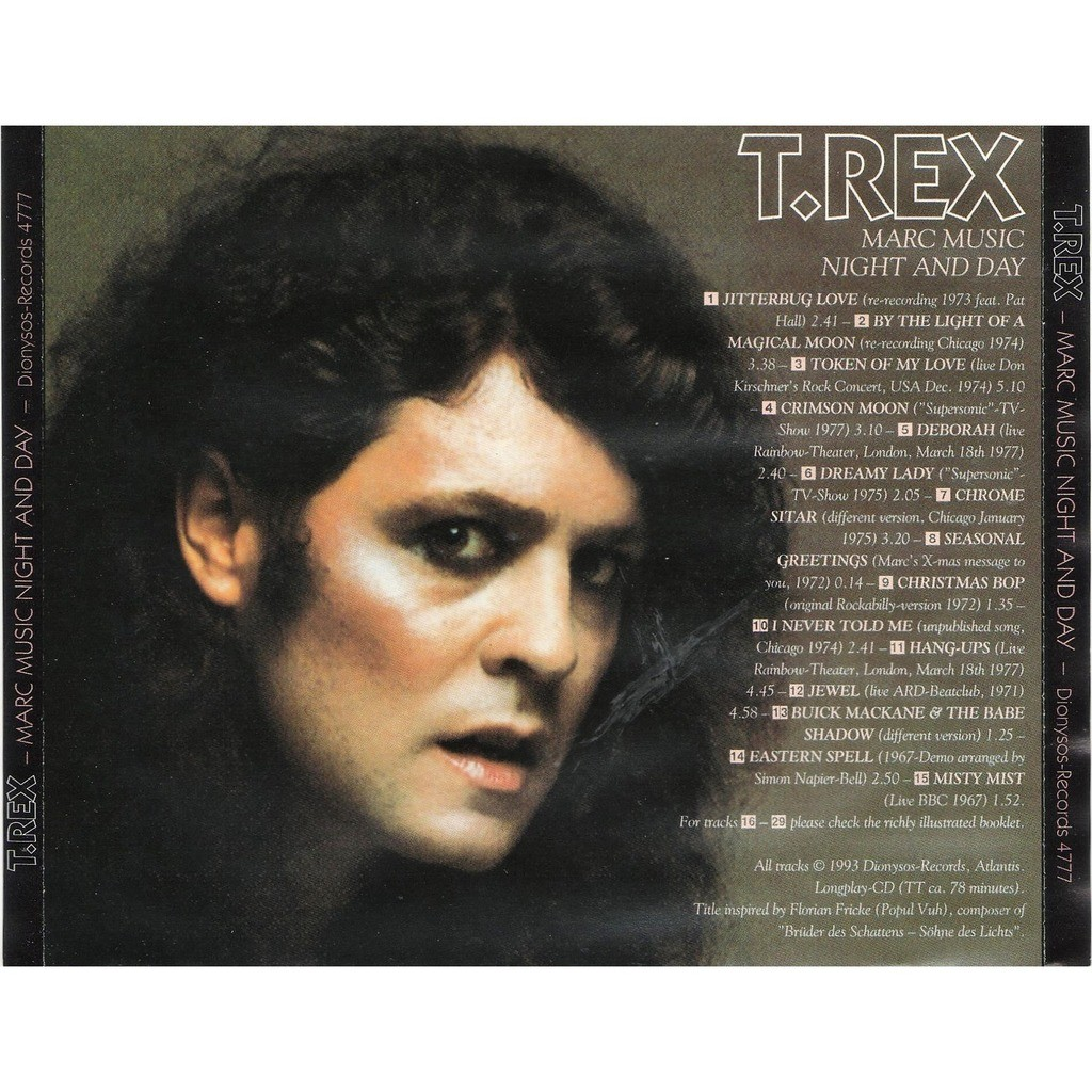 T.Rex Marc Music Night And Day (live & Demos & Rarities)