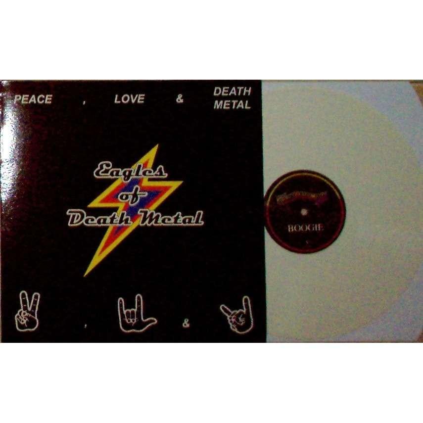 Eagles Of Death Metal Peace, Love & Death Metal (USA 2004 Ltd re 15-trk LP WHITE vinyl full ps)