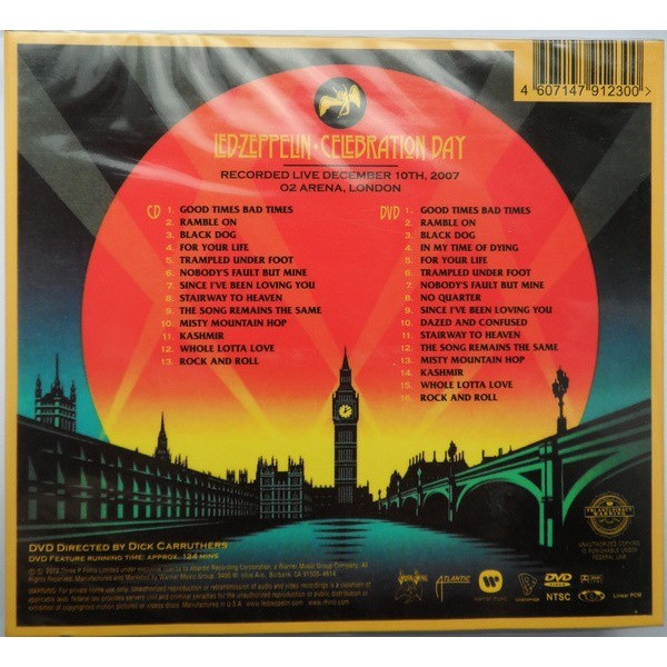 LED ZEPPELIN CELEBRATION DAY LIVE IN LONDON'S O2 ARENA (2012) CD+DVD Digipak New and Factory-Sealed