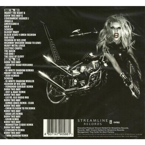 Lady Gaga Born This Way + Remixes (2011) 2CD Digipak New & Factory-Sealed (2 CDs / 31 Tracks)