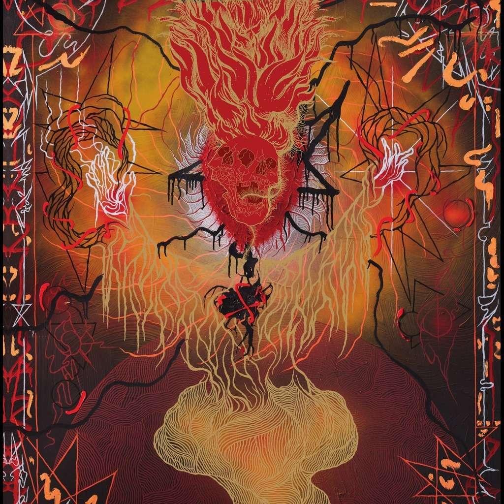 WORMLUST / SKAPHE Kosmiskur Hryllingur. Red Marble Vinyl