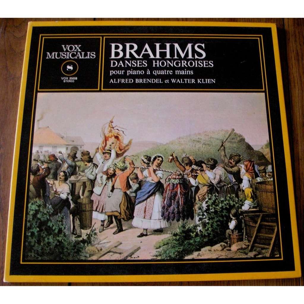 alfred brendel et walter klien brahms : danses hongroises pour piano à quatre mains