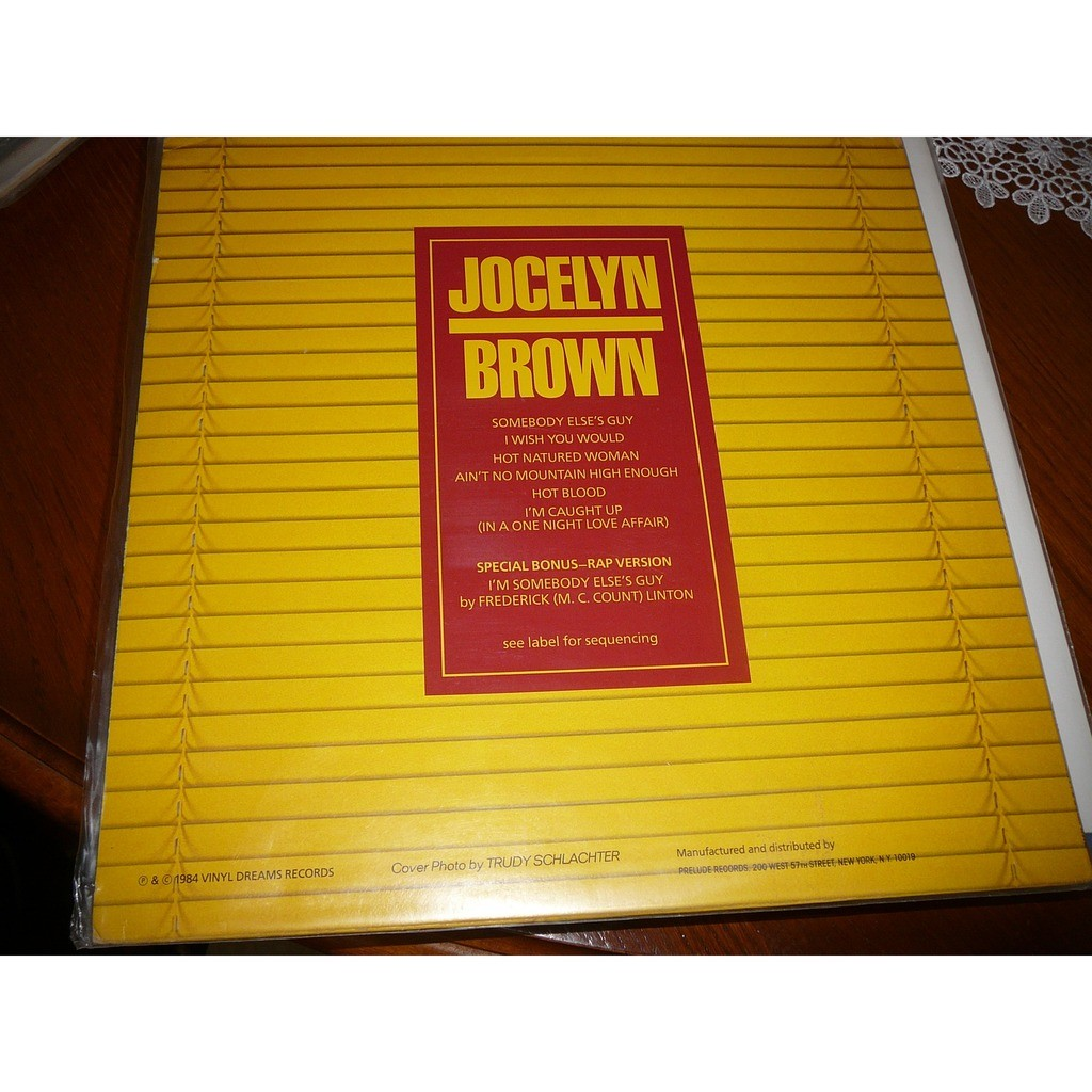 JOCELYN BROWN somebody else's guy