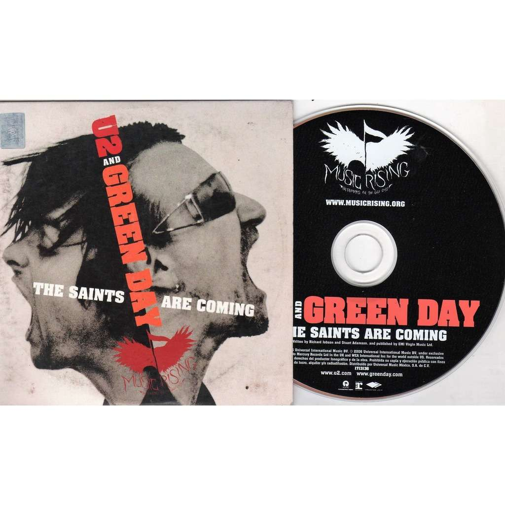 U2 / Green Day The Saints Are Coming (Mexico 2006 Ltd promo 2-trk CD unique card ps)
