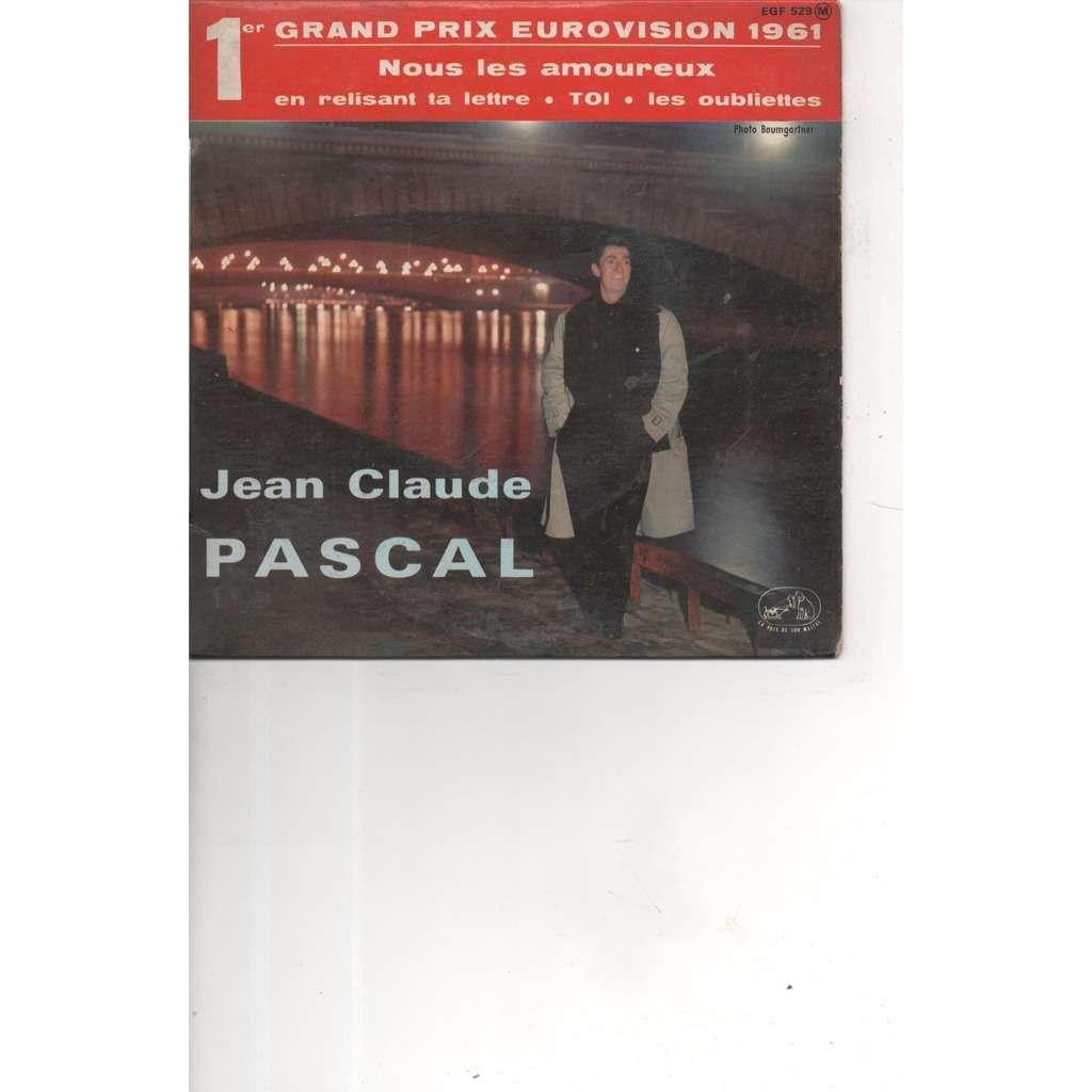 JEAN CLAUDE PASCAL ..pochette avec sa languette NOUS LES AMOUREUX - LES OUBLIETTES - TOI - EN RELISANT TA LETTRE