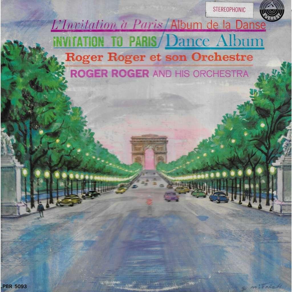 Roger ROGER & son orchestre Invitation To Paris