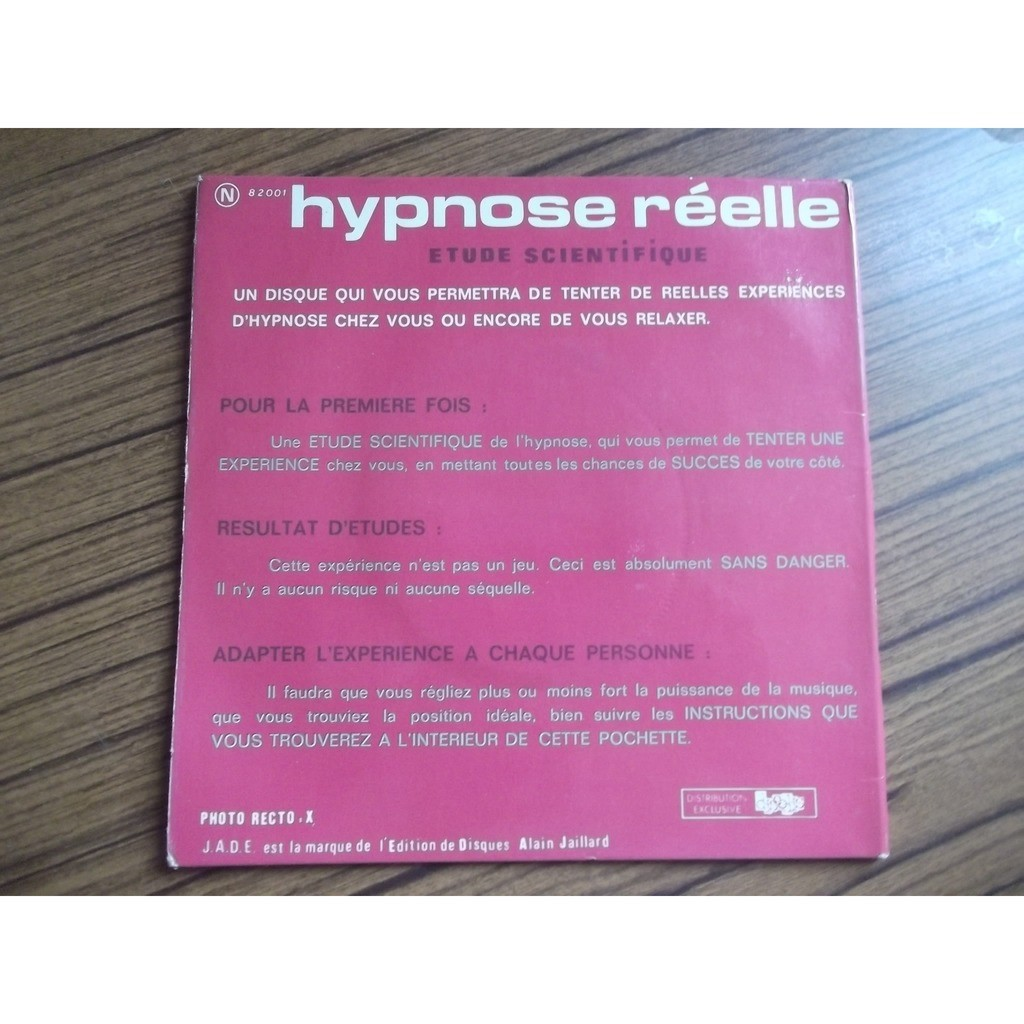 J.J. DEXTER - YAN TREGGER - M. HENDRYKX hypnose reelle - be quite