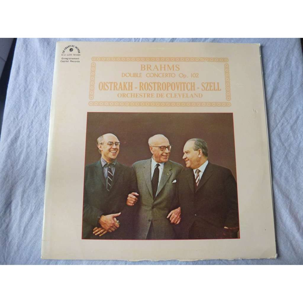 Oistrakh - Rostropovitch - Szell Brahms : double concerto op. 102 - ( near mint condition )