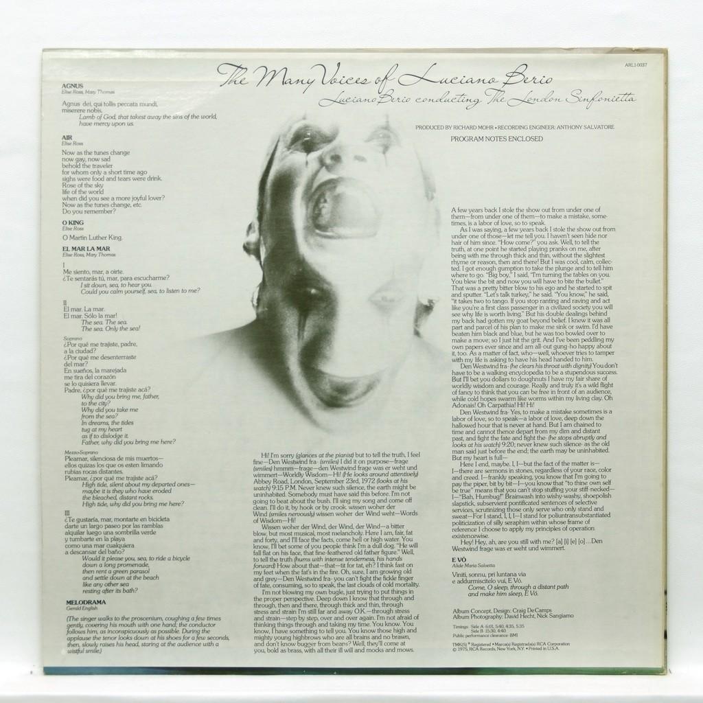 luciano berio Luciano Berio : The many voices of Luciano Berio