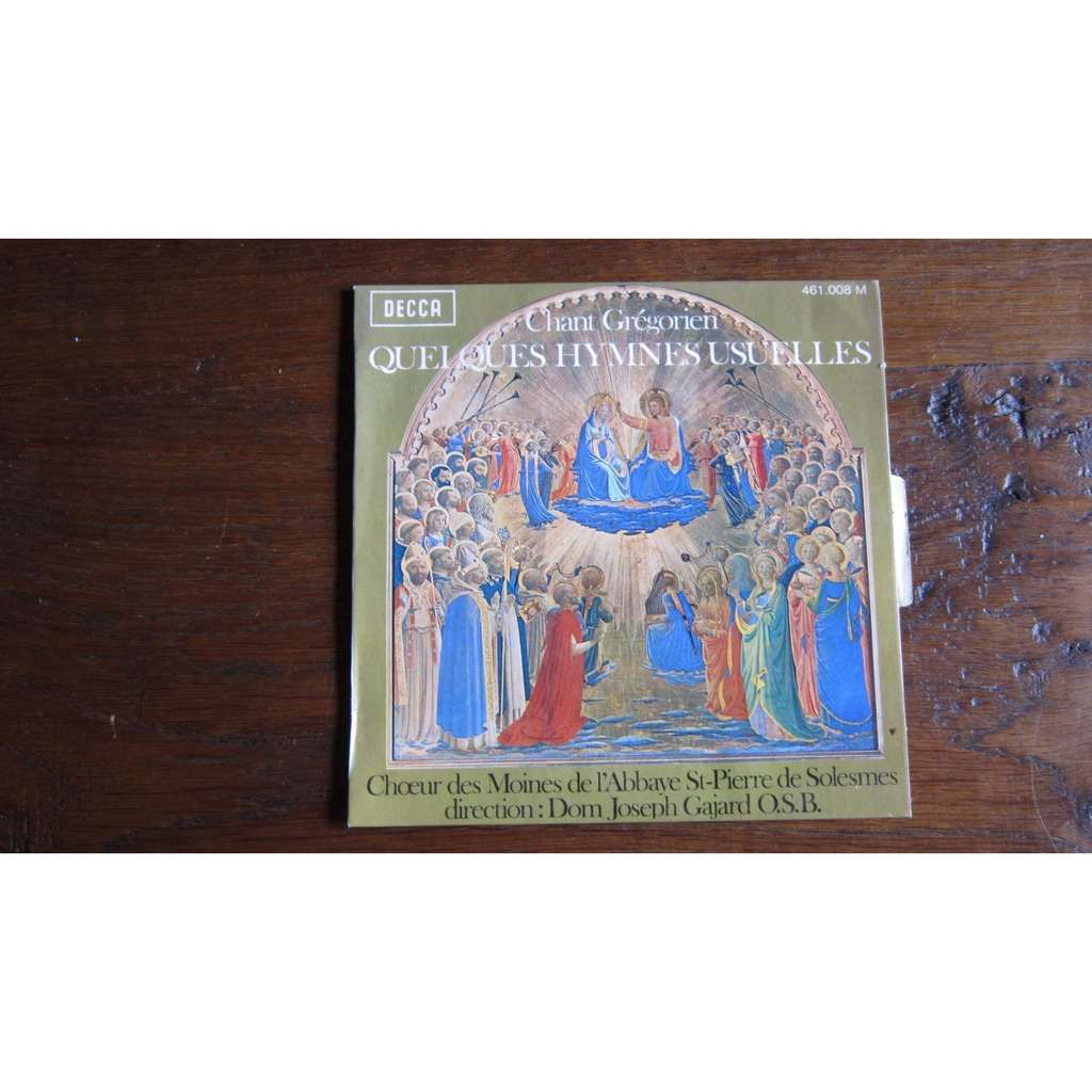 choeur des moines de l'abbaye de solesmes CHANT GREGORIEN Quelques hymmes usuelles
