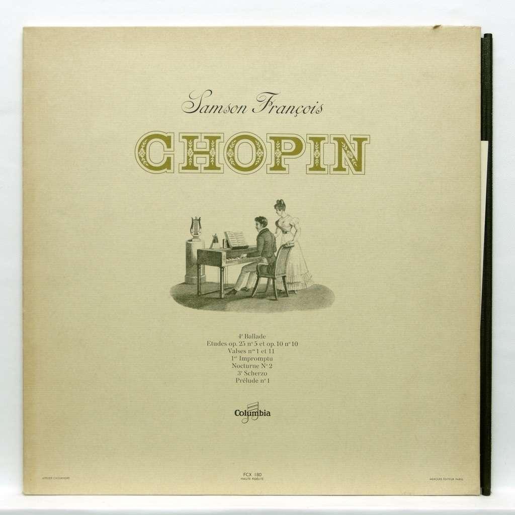 samson francois Chopin : Ballade no 4 / Etude nos 5 & 10 / Valse no 1 /  Impromptu no 1 / Nocturne no 2