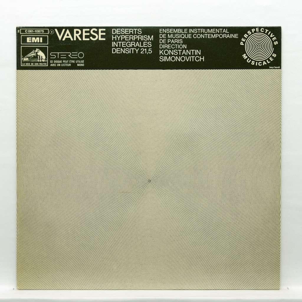 Konstantin Simonovitch Varese : Deserts / Hyperprism / Integrales / Density 21,5