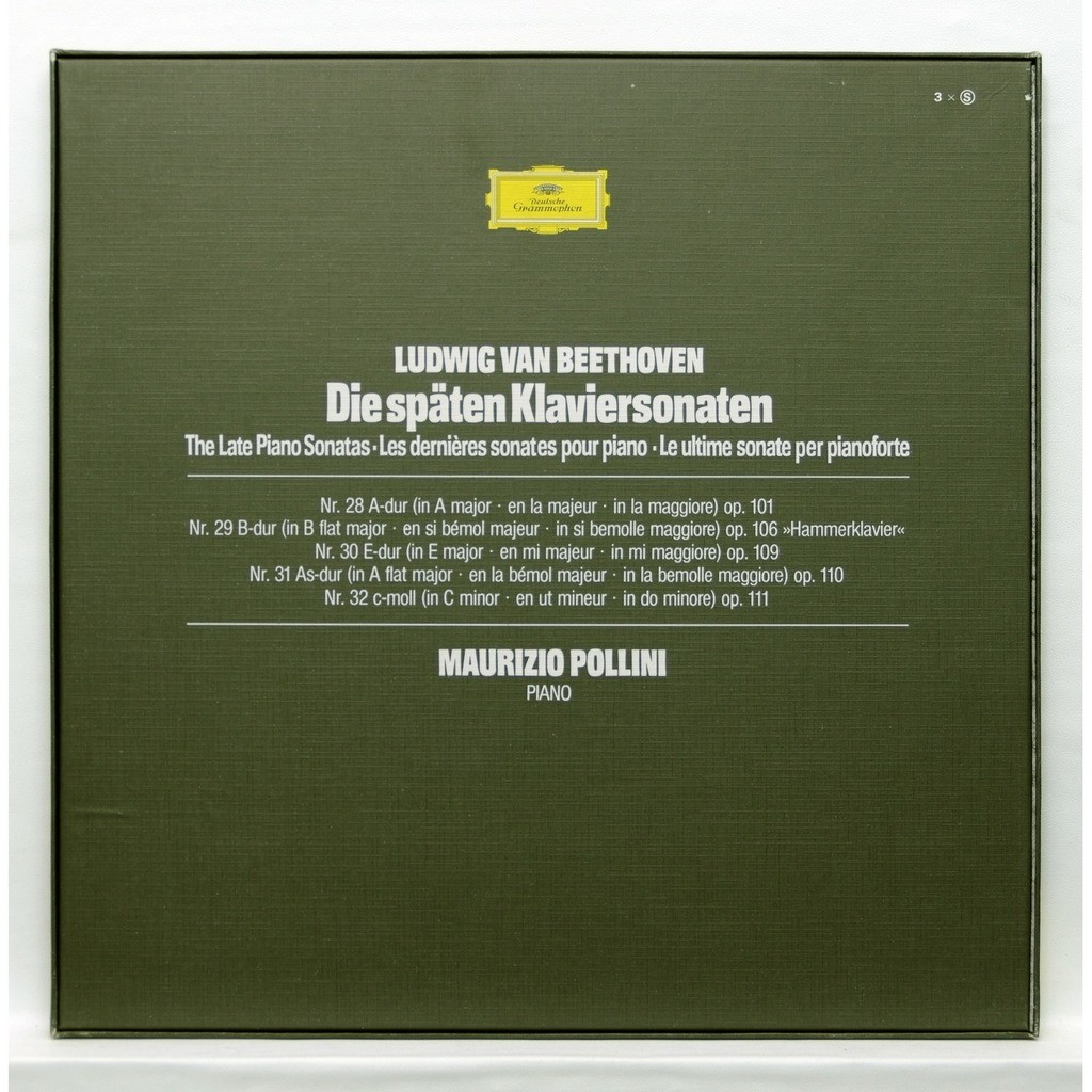 maurizio pollini Beethoven The Late Piano Sonatas nos.28 to 32