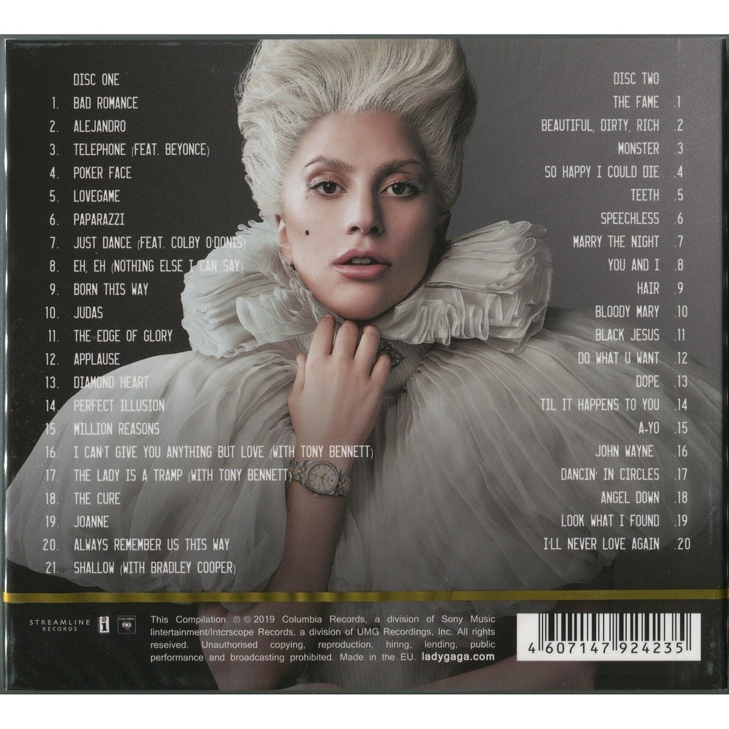 LADY GAGA GREATEST HITS 2CD Digipak (2019 Edition, Includes tracks from A Star Is Born) Factory Sealed