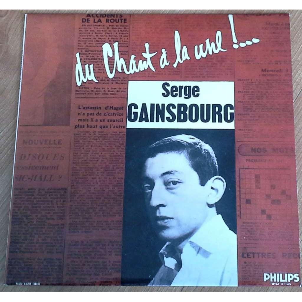 Serge GAINSBOURG DU CHANT A LA UNE !...