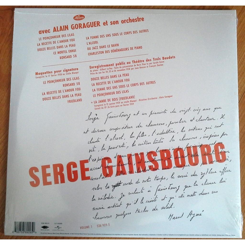 Serge Gainsbourg Du Chant à La Une!... Double 25cm