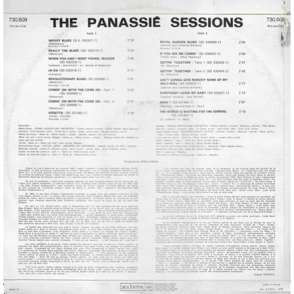Divers The PANASSIE SESSIONS