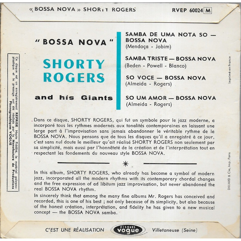 Shorty ROGERS and his Giants Bossa Nova