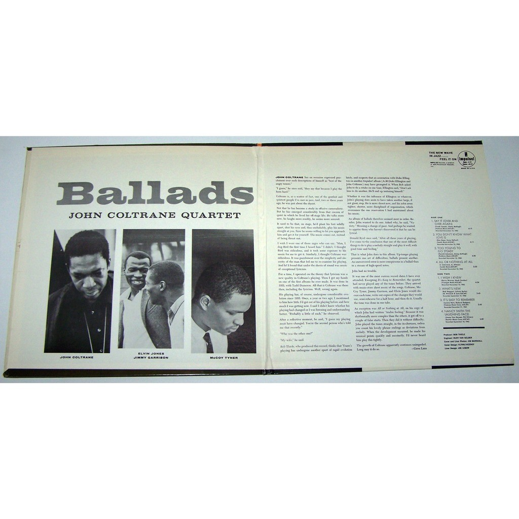 john coltrane quartet ballads