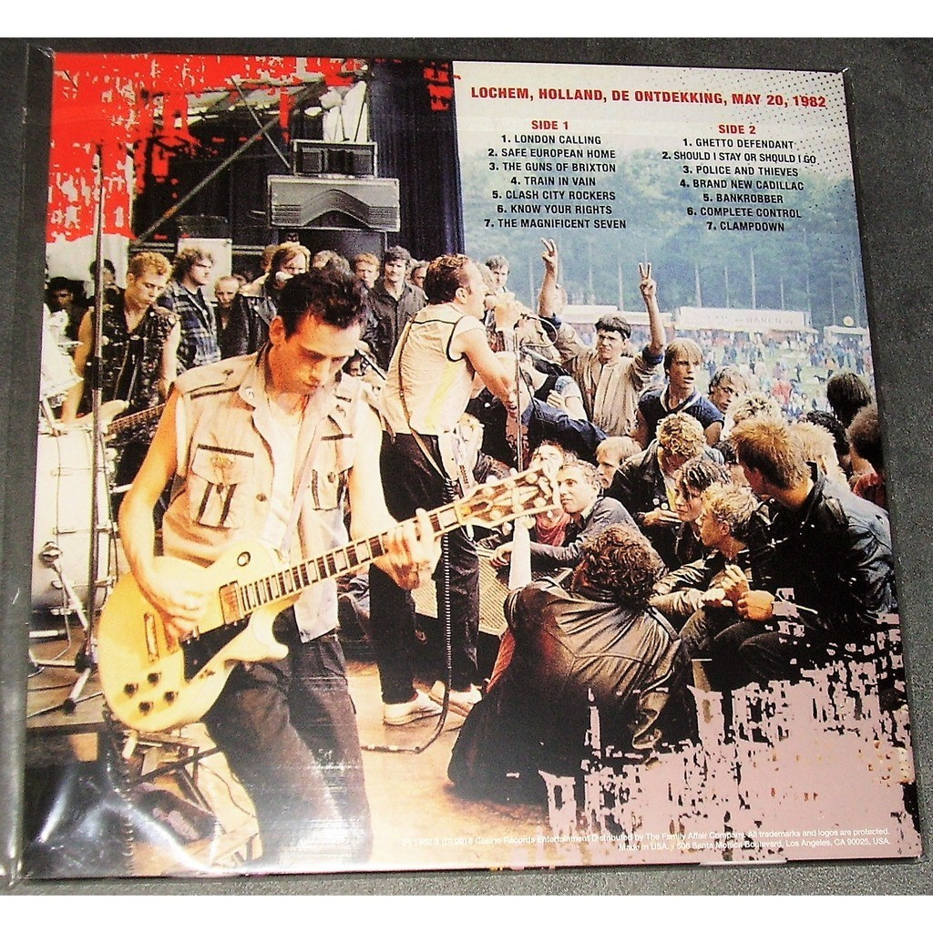 The Clash Lochem Festival '82 (lp) Ltd Edit 300 Copies & Blue Vinyl -USA