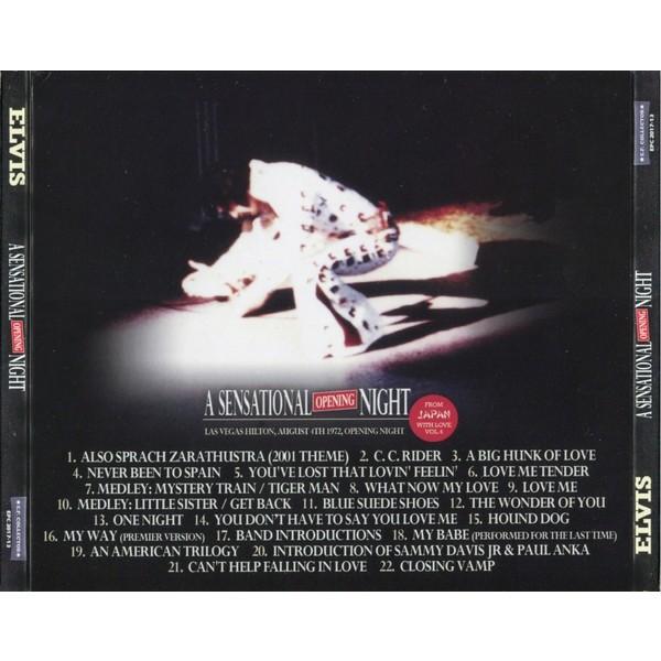 elvis presley 1 cd digipack a sensational opening night 4/8/72 las vegas opening night show