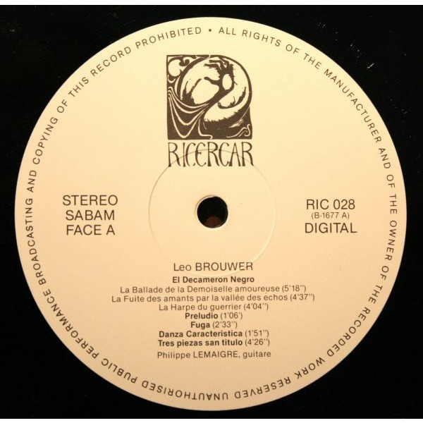 Philippe LEMAIGRE / Leo BROUWER Oeuvres pour guitares (original Belgium press - Gatefold sleeve - 1984 - Great conditions)