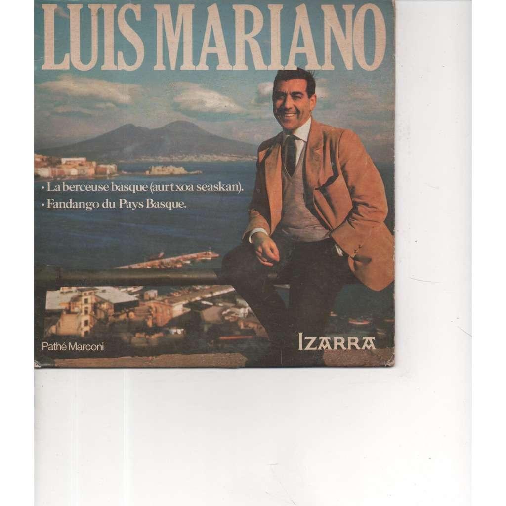 MARIANO Luis Disque publicitaire - LA BERCEUSE BASQUE / FANDANGO DU PAYS BASQUE ( Publicité Izarra )