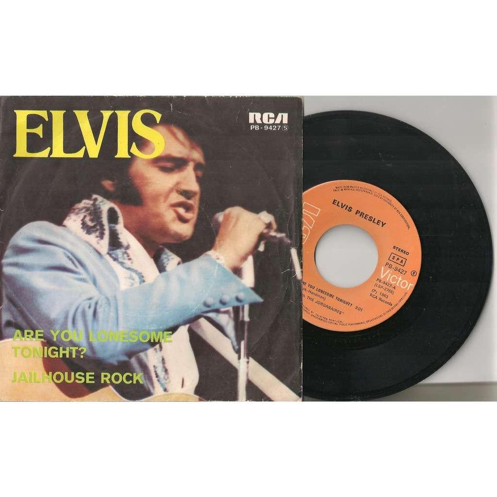 elvis presley 1 orange label 45 portugal are you lonesome tonight / jailhouse rock