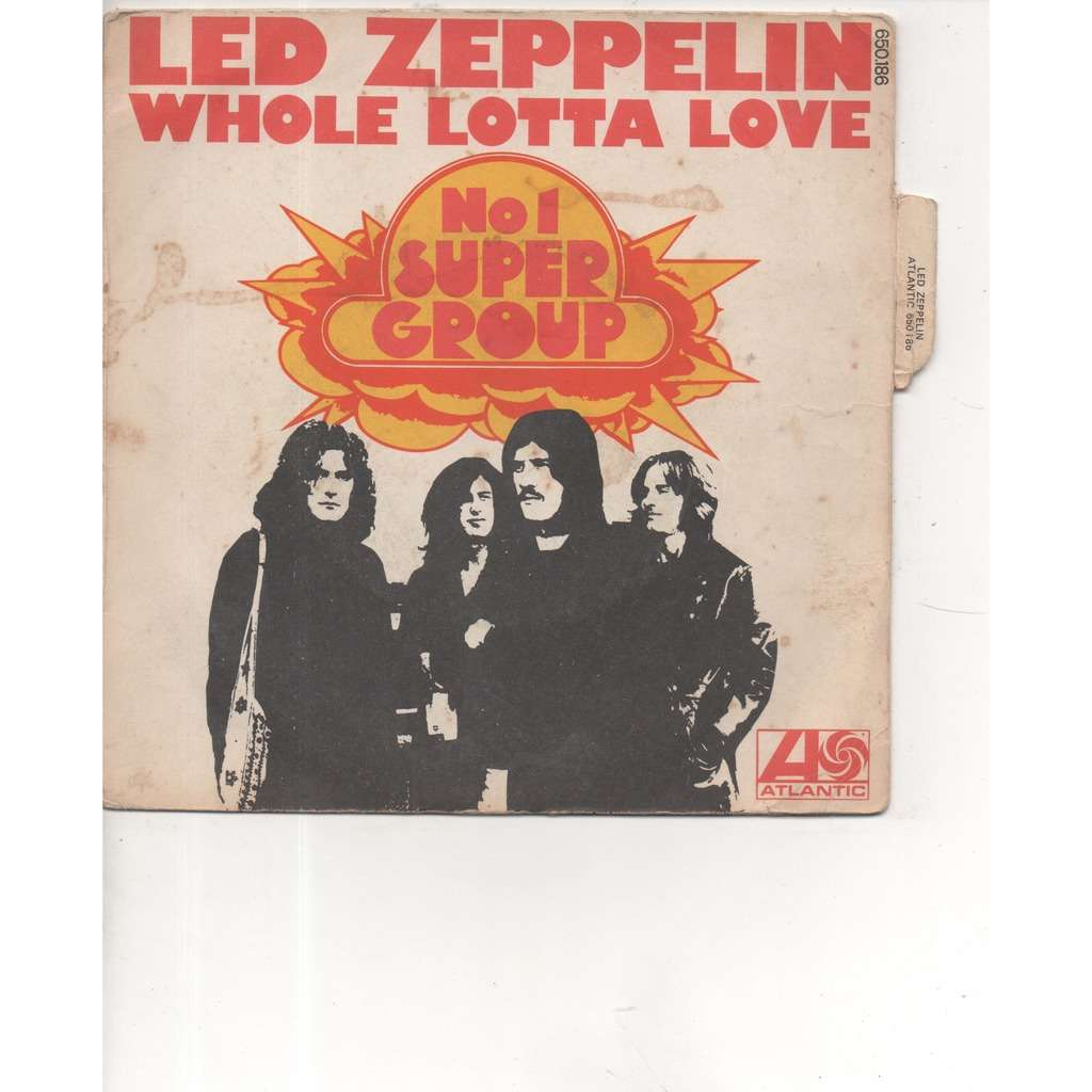 LED ZEPPELIN pochette avec sa languette whole lotta love / livin lovin maid