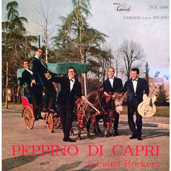 PEPPINO DI CAPRI e i SUOI ROCKERS Peppino di Capri e i Suoi Rockers (rare original Italia press - 1961)