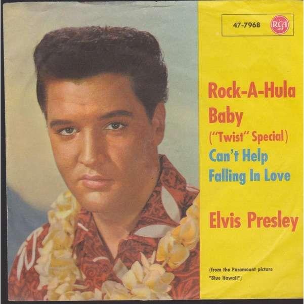 elvis presley 1 black label noir 45 germany 1961 rock a hula baby RCA 47-7968